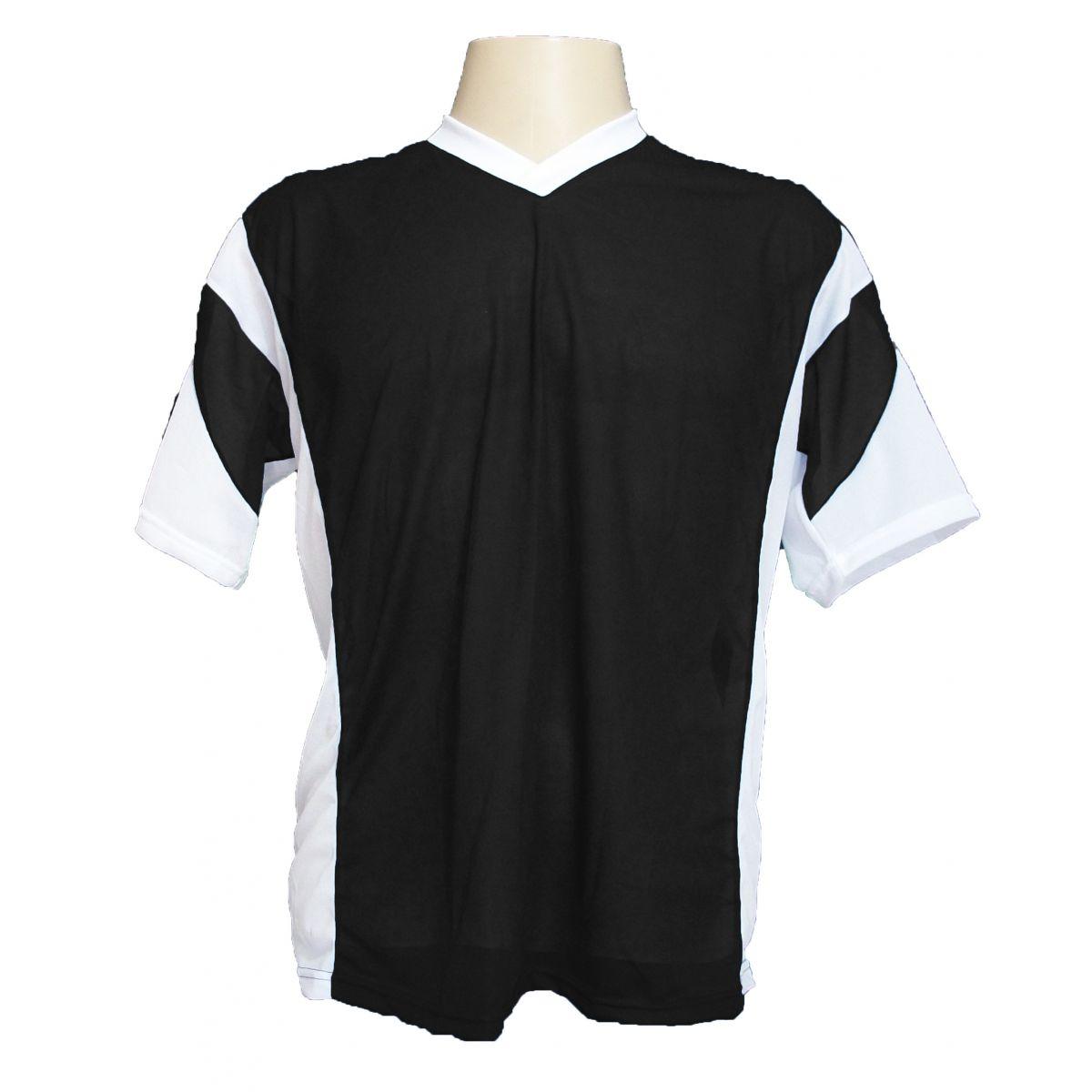 Jogo de Camisa Promocional com 18 Peças Numeradas Modelo Attack Preto/Branco - Frete Grátis Brasil
