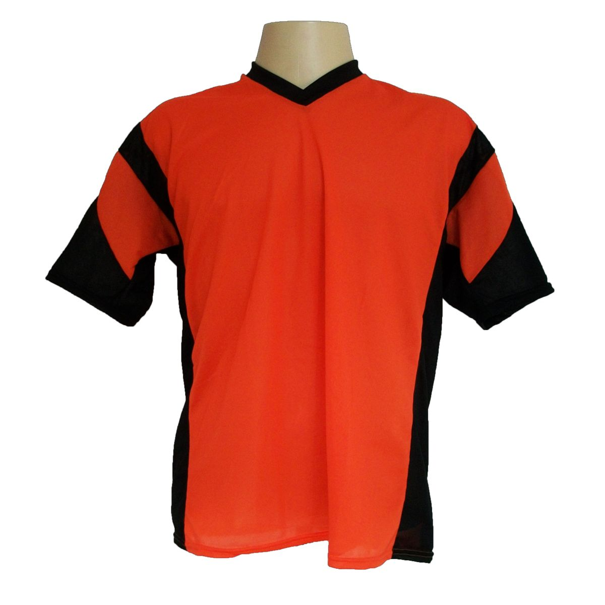 Jogo de Camisa Promocional com 18 Peças Numeradas Modelo Attack Laranja/Preto