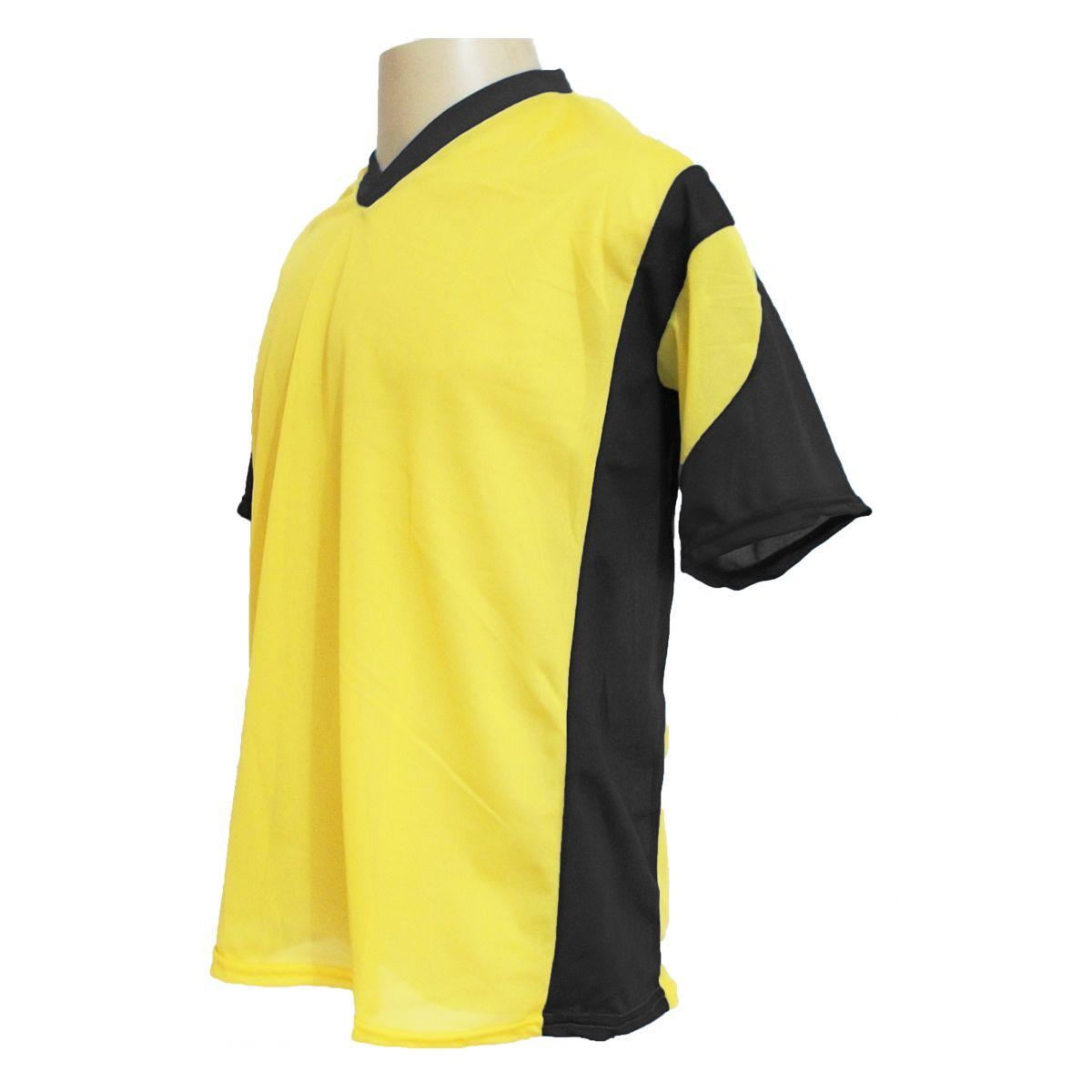Jogo de Camisa Promocional com 12 Peças Numeradas Modelo Attack Amarelo/Preto