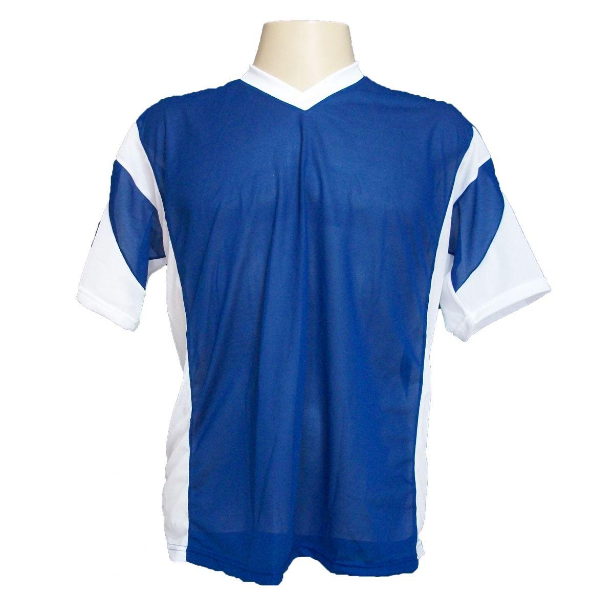 Jogo de Camisa Promocional com 12 Peças Numeradas Modelo Attack Royal/Branco - Frete Grátis Brasil