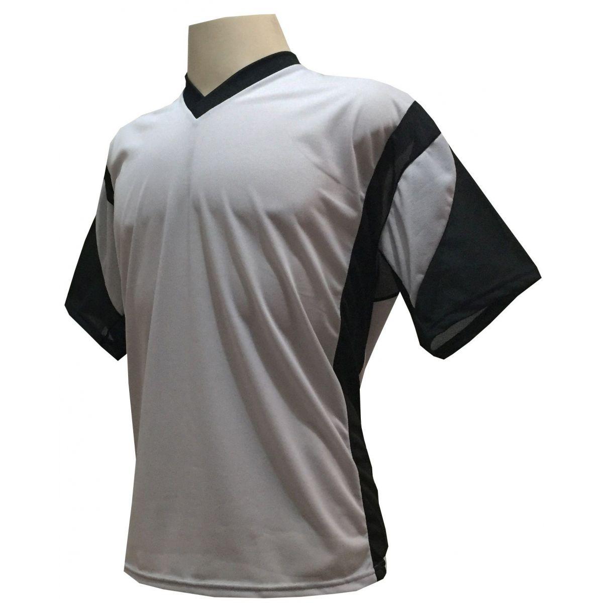 Jogo de Camisa Promocional com 12 Peças Numeradas Modelo Attack Cinza/Preto - Frete Grátis Brasil