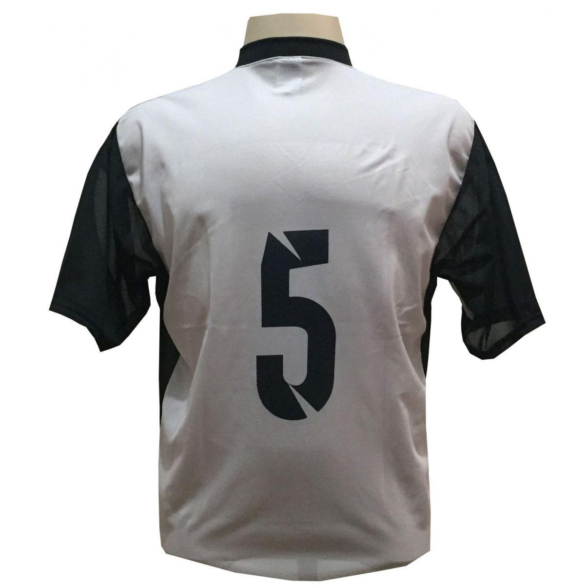 Jogo de Camisa Promocional com 18 Peças Numeradas Modelo Attack Cinza/Preto
