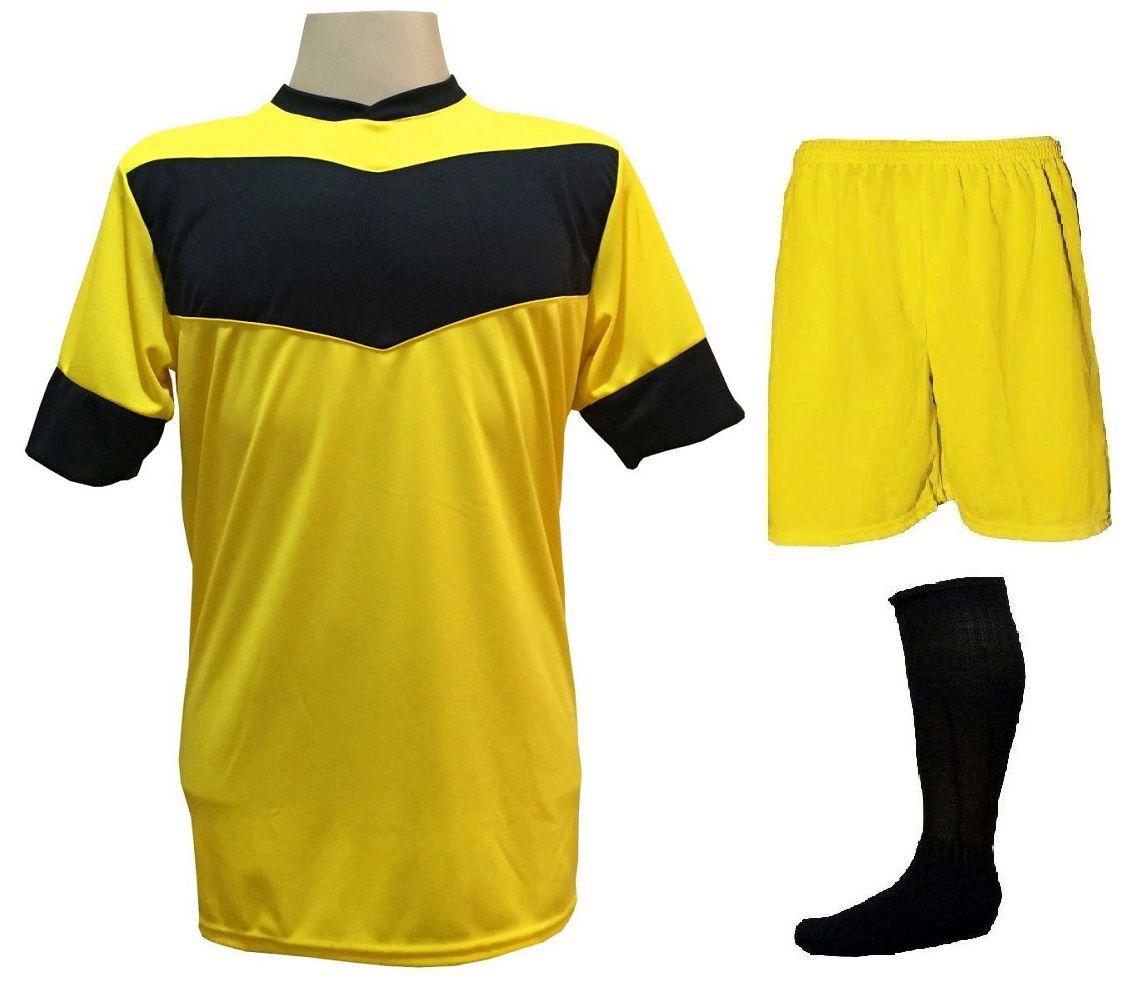 85d86068cbed2 Fardamento Completo - Modelo Columbus Amarelo Preto 18+1 (18 camisas ...