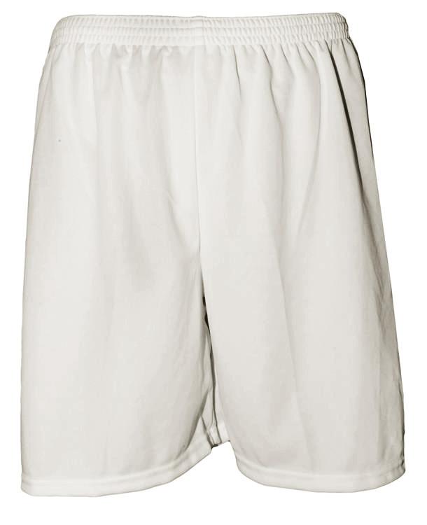 Uniforme Esportivo com 18 camisas modelo Milan Branco/Preto + 18 calções modelo Madrid Branco + Brindes