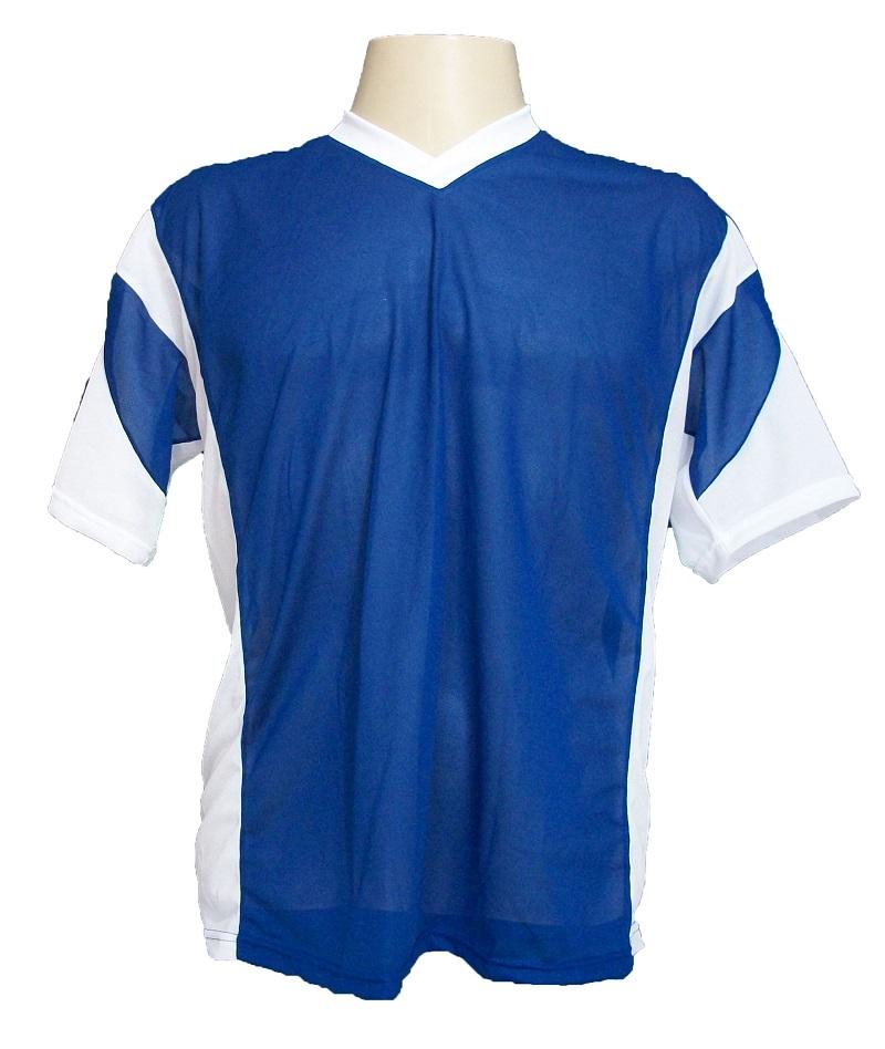 Fardamento Popular Completo modelo Attack Royal/Branco 18+1 (18 camisas + 18 calções + 19 pares de meiões + 1 conjunto de goleiro) + Brindes