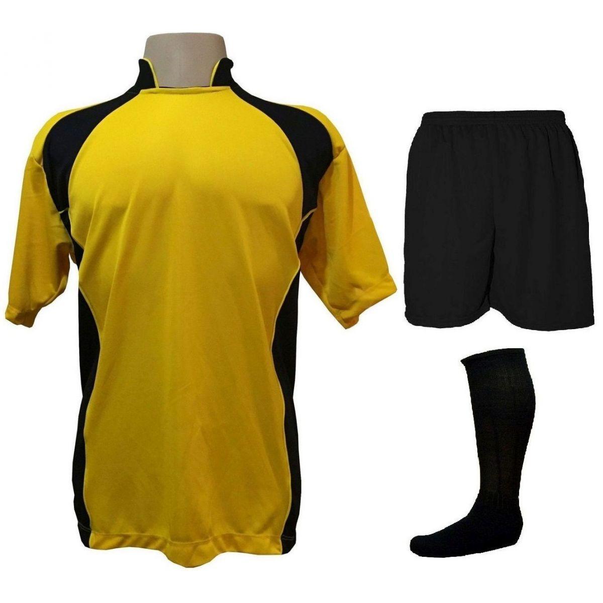 Uniforme Esportivo Completo modelo Suécia Amarelo Preto 14+1 (14 camisas +  14 calções + 15 pares de meiões + 1 conjunto de goleiro) - Frete Grátis  Brasil + ... 41c877d7c5f7c