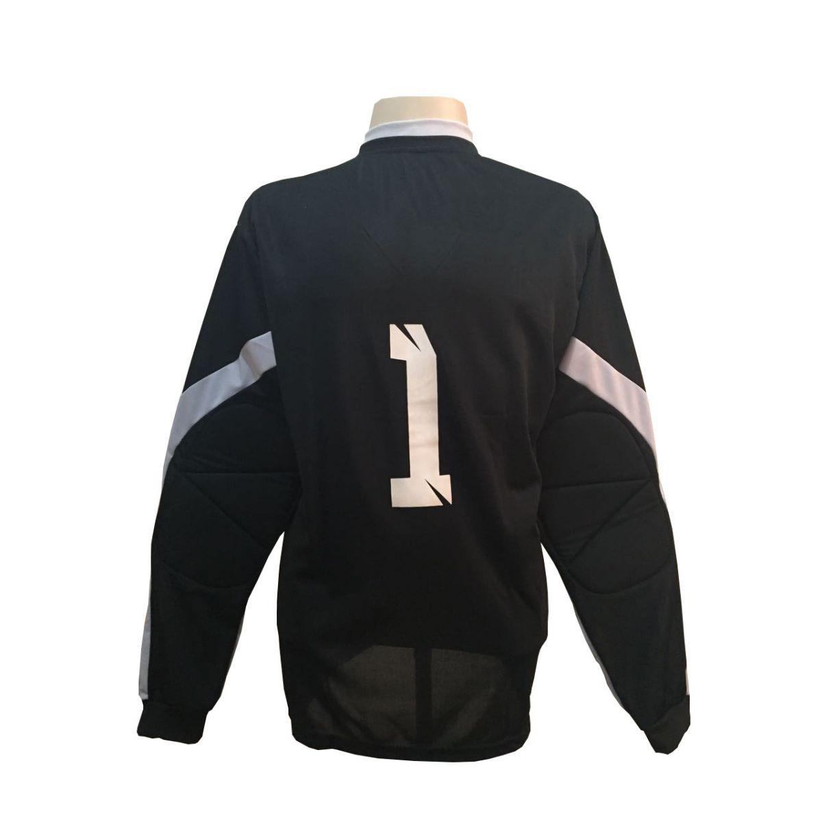 Camisa de Goleiro modelo Turim número 1 Preto/Cinza