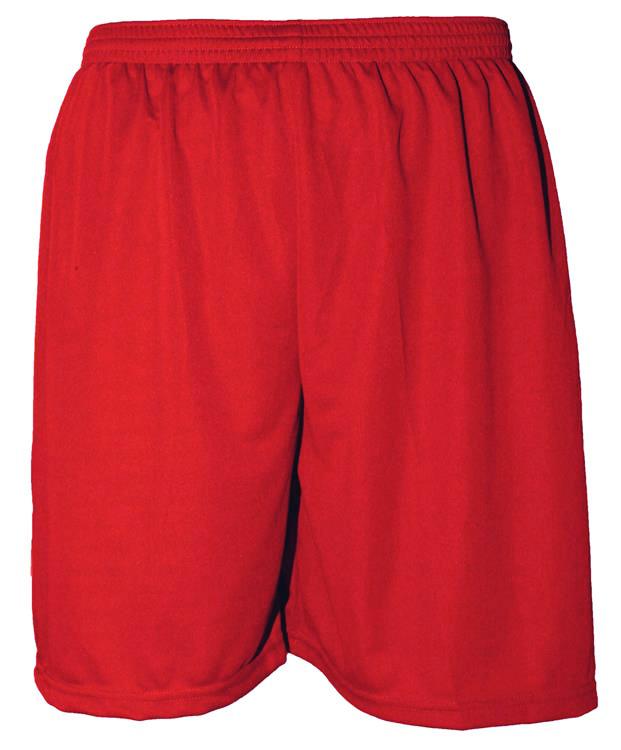Uniforme Esportivo com 18 camisas modelo City Vermelho/Preto + 18 calções modelo Madrid Vermelho + Brindes