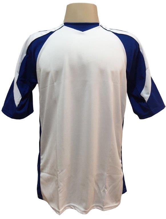 Jogo de Camisa com 10 peças modelo Madrid Branco/Royal + Brindes