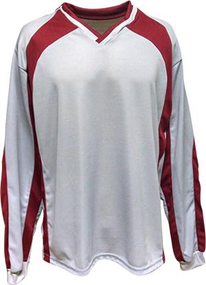 Uniforme Esportivo com 12 camisas modelo City Vermelho/Branco + 12 calções modelo Madrid + 1 Goleiro + Brindes