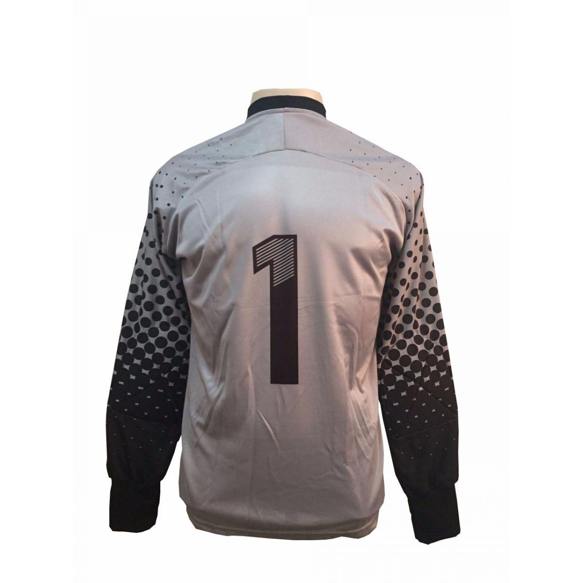Camisa de Goleiro modelo Transfer 237 Cinza/Preto nº 1 Tamanho G