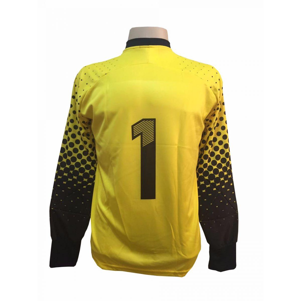 Camisa de Goleiro modelo Transfer 237 Amarelo/Preto nº 1 Tamanho GG