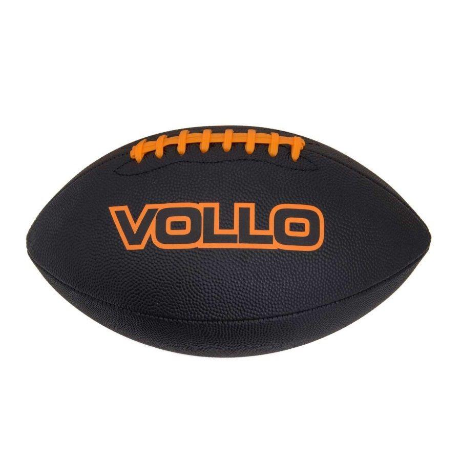 Bola de Futebol Americano Vollo Oficial 9 (Preto)