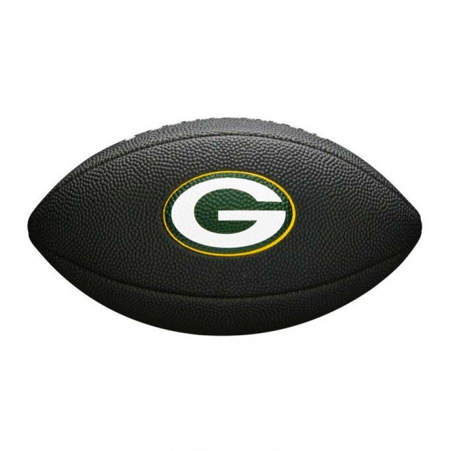 Bola de Futebol Americano Wilson NFL Team Jr Green Bay Packers Black Edition