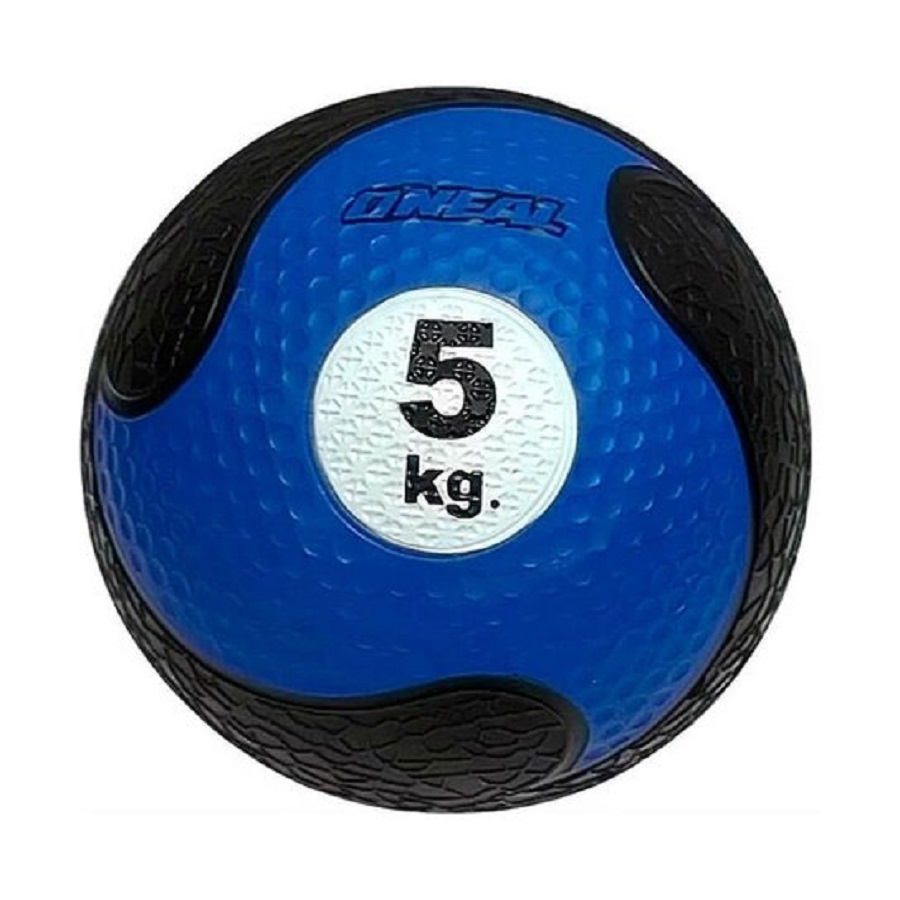 Bola Medicine Ball O'NEAL 5Kg Azul/Preto