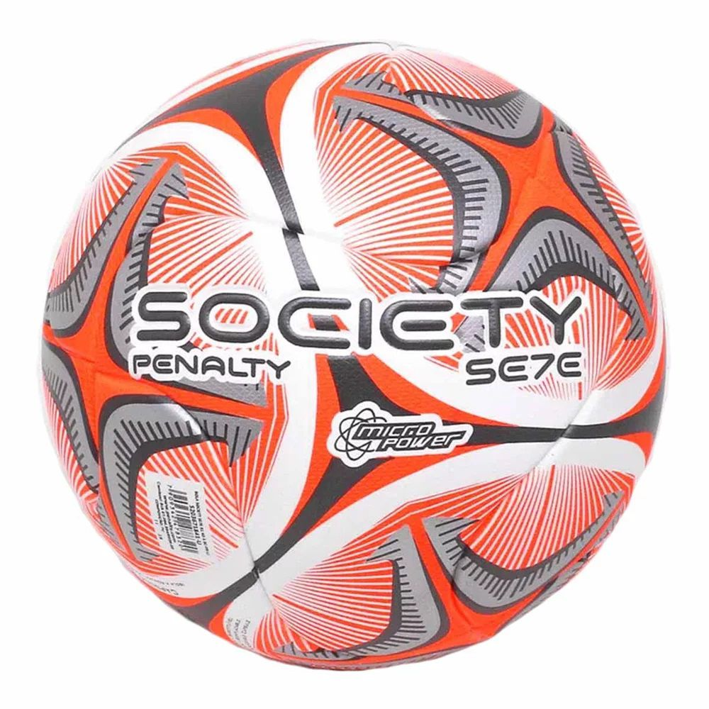 Bola Society Penalty Se7e R1 KO X Branca e Laranja
