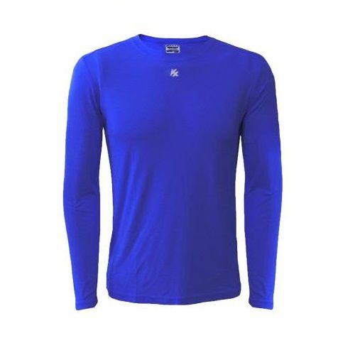 Camisa Alta Compressão Manga Longa Azul - Kanxa