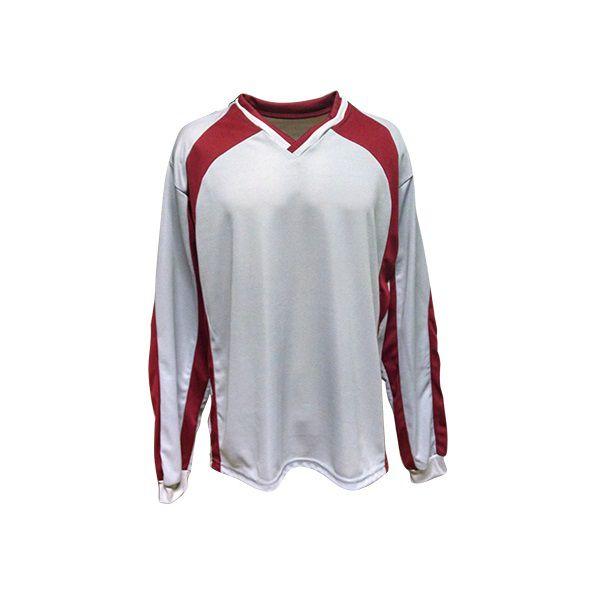 Camisa de Goleiro modelo Turim número 12 Cinza/Vinho