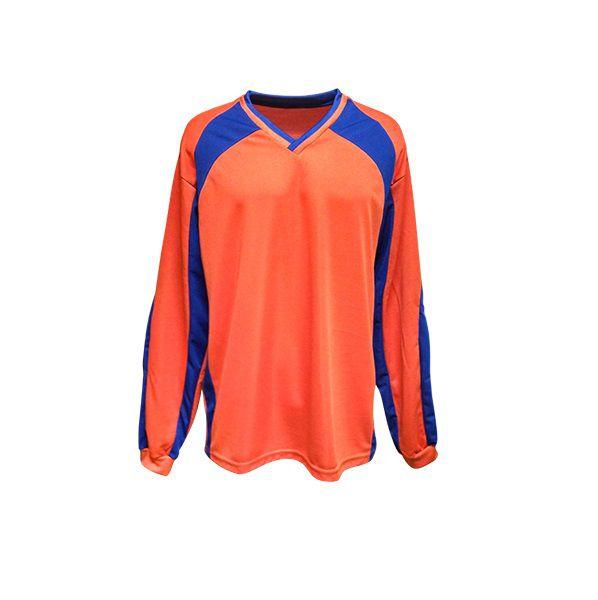 Camisa de Goleiro modelo Turim número 12 Laranja/Royal