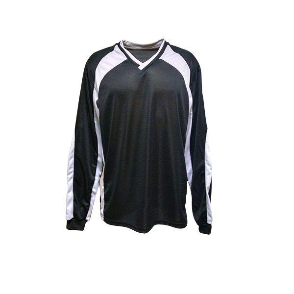 Camisa de Goleiro modelo Turim número 12 Preto/Cinza