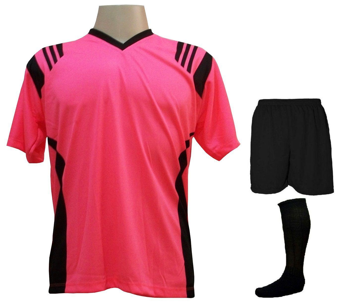 a2d0504d1b747 Fardamento Completo modelo Roma Rosa Preto 12+1 (12 camisas + 12 ...