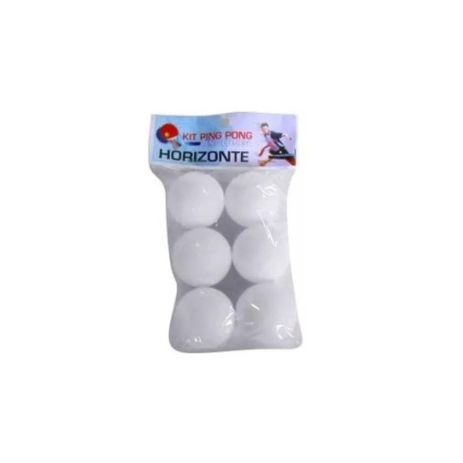 Kit 6 Bolinhas Ping Pong Tênis de Mesa Horizonte