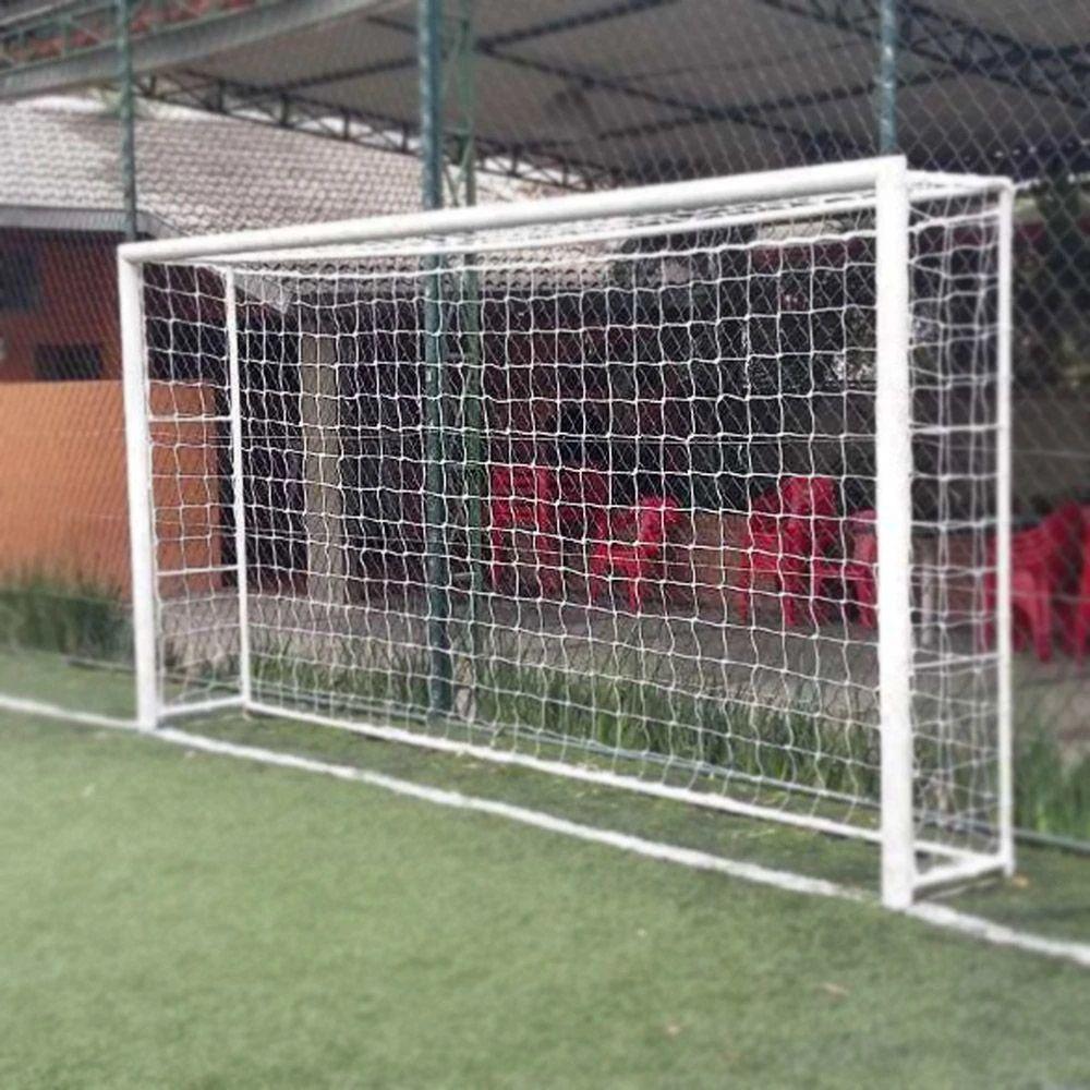 Par de Rede de Futebol Society 5 Metros na cor BRANCA Fio 2 - Matrix