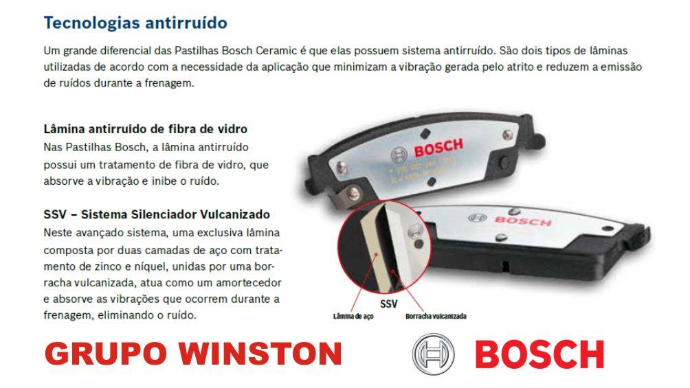 Gm Captiva 2.4 3.6 Pastilhas Freio TRASEIRA Cerâmica Bosch
