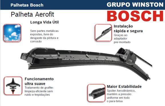 Palheta Bosch Aerofit Limpador de para brisa Bosch VW Fox ano 2003 até 2009