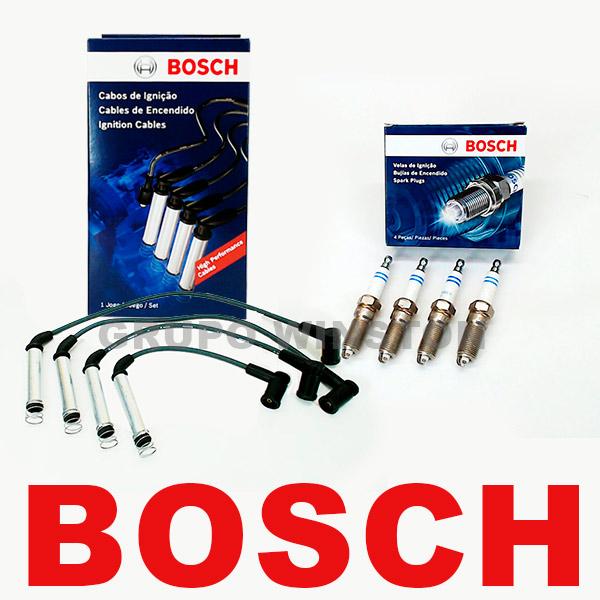 Kit Cabos E Velas Bosch Ford Zetec Rocam 8v 1.6 Fiesta Ka F00099C142 | F000KE0P10 consulte aplicação