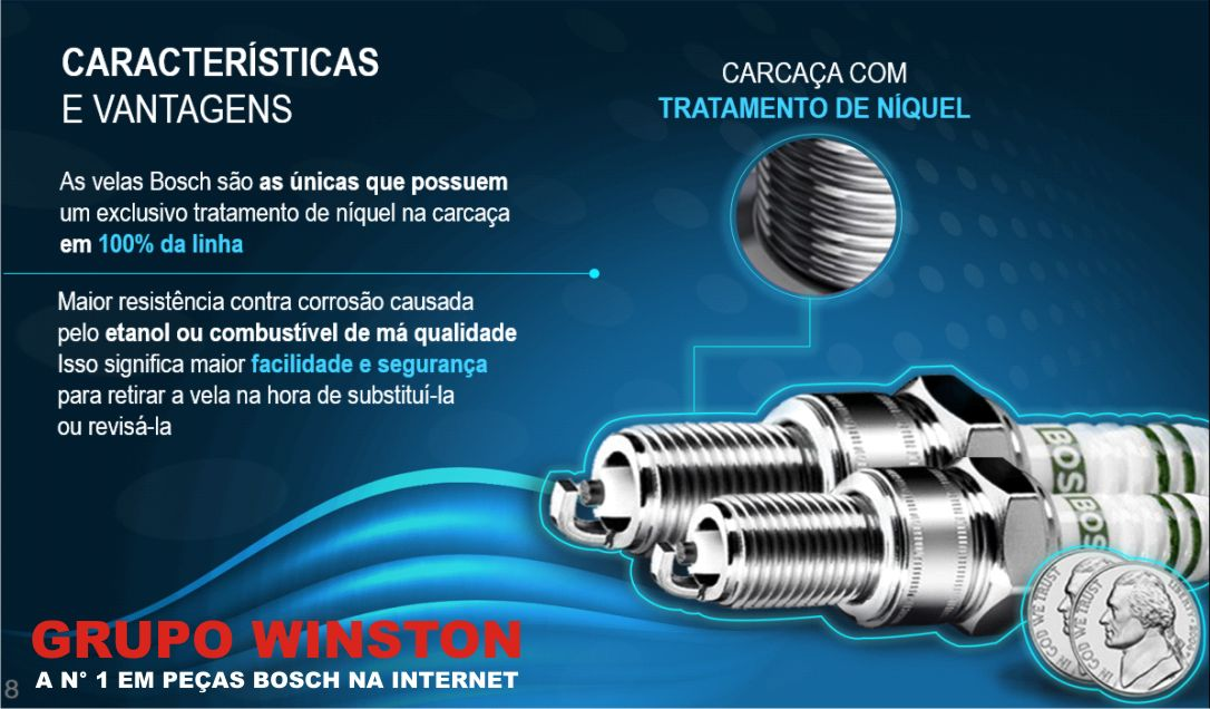 Velas Bosch Brava Doblo Marea 1.6 16v Gasolina F000KE0P02 consulte a aplicação