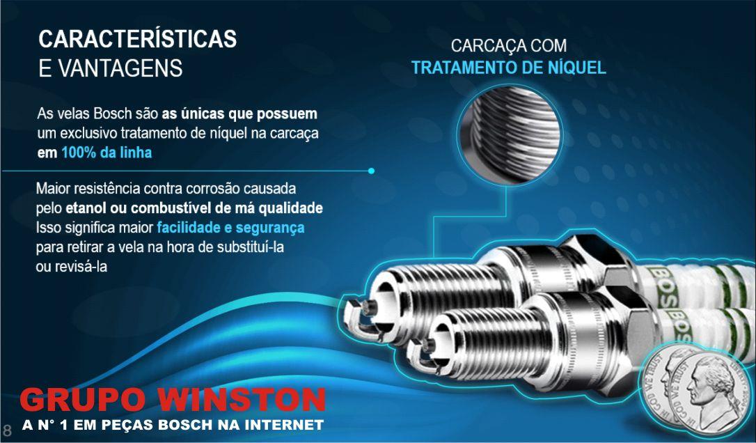 Velas Bosch Fox Gol G4 G5 Voyage 1.0 1.6 8v Flex F000KE0P30 consulte aplicação