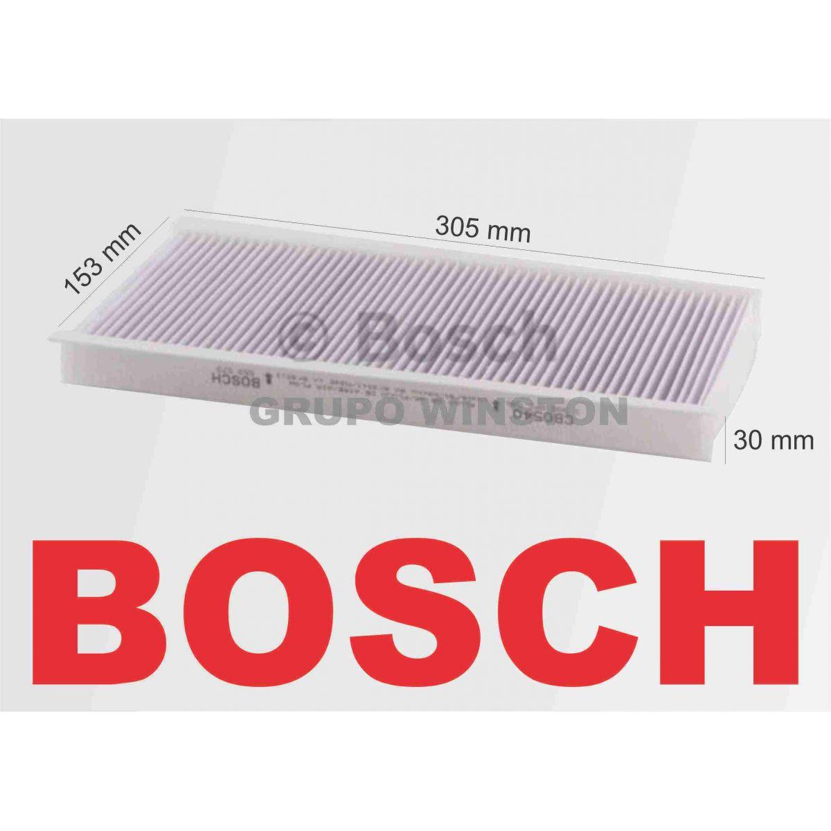 Filtro Ar Condicionado Bosch Vw Gol Parati Saveiro