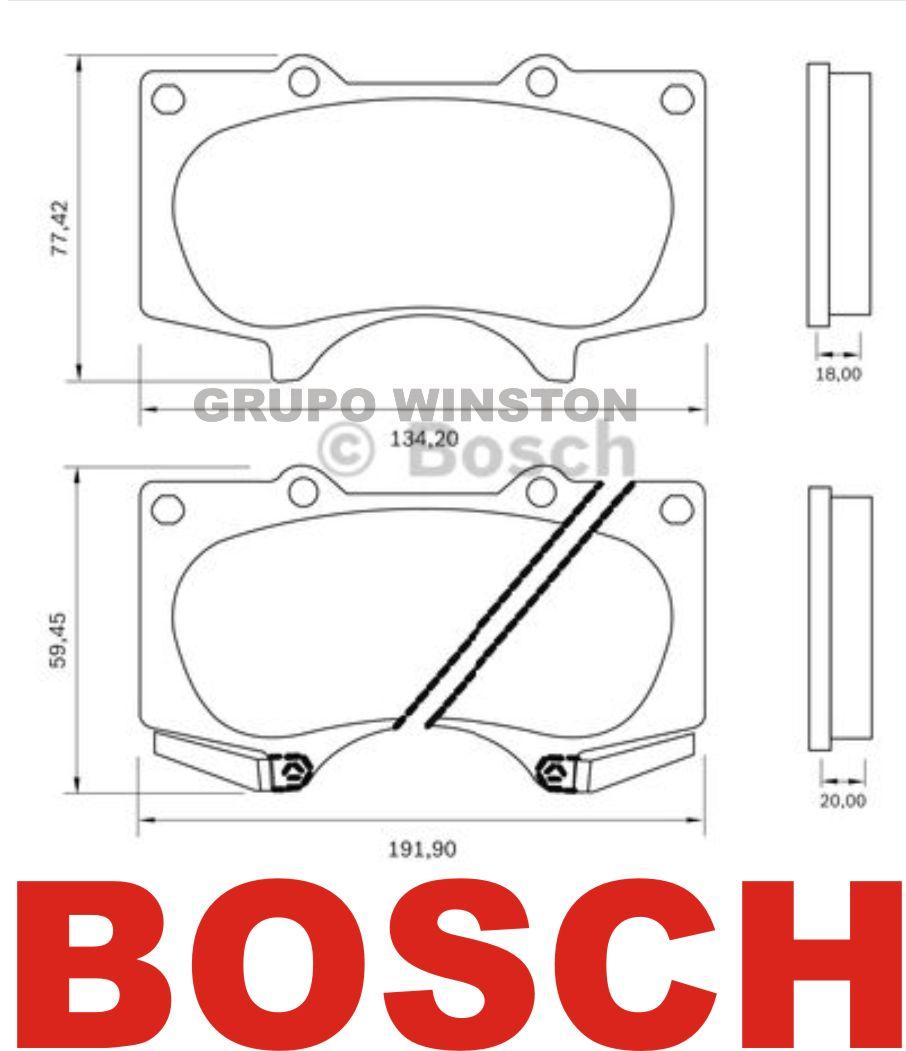Jogo Pastilha Freio Dianteiro Bosch Toyota Prado 3.0