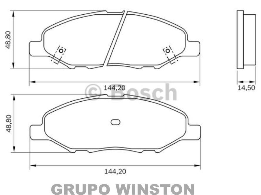Jogo Pastilha Freio Dianteira Bosch Nissan Tiida E Livina