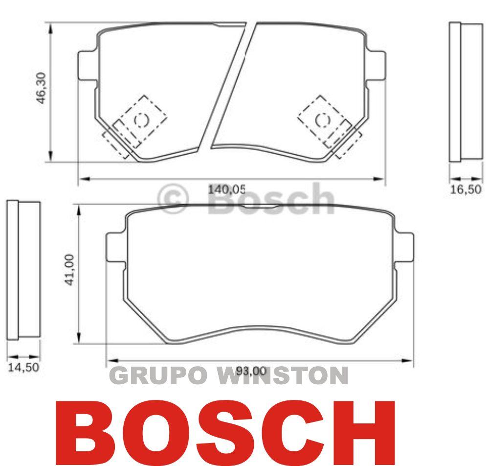 Jogo Pastilha Freio Traseira Bosch Hyundai I30 Ix35 2.0