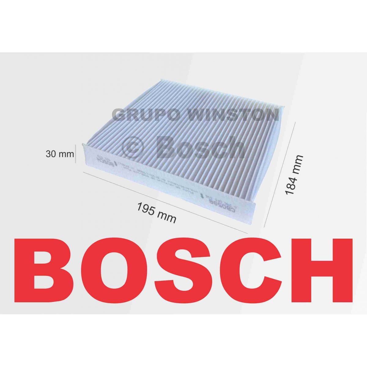 Filtro Ar Condicionado Bosch Fiorino Grand Siena Palio Uno