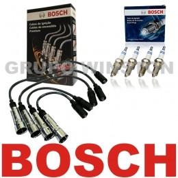 Kit Cabos E Velas Originais Bosch VW Ap 1.6 1.8 Alc Carburado 9295080041   F000KE0P16 consulte a aplicação
