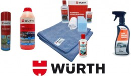Super Kits Wurth Limpeza Automotiva Shampoo Pano Kit Couro Cera Water Off Silicone Spray