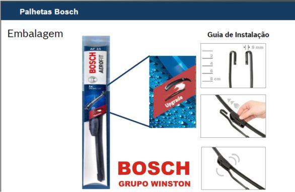 Palheta Bosch Aerofit Limpador de para brisa Bosch FIAT Fiorino Furgão / Pickup 2014 em diante