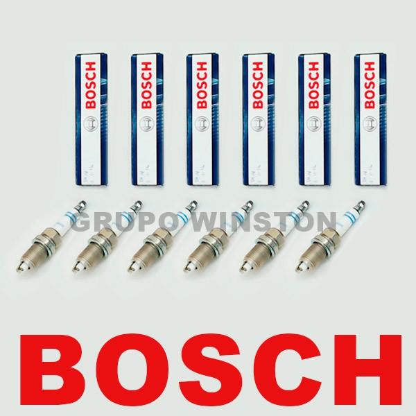 Jogo com 6 Velas Bosch Chevrolet Blazer S10 4.3 V6 Gasolina / GNV 0242236563 ( HR7KPP33+ ) consulte a aplicação
