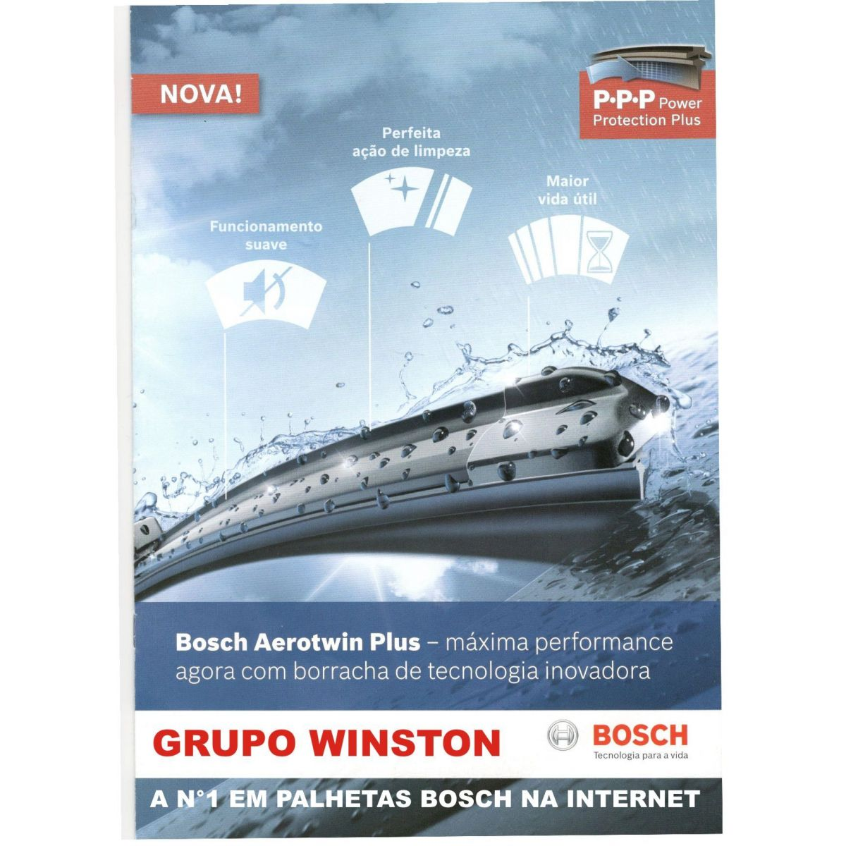 Palheta Bosch Aerotwin Plus Limpador de para brisa Bosch FIAT Novo Palio Grand Siena Argo Cronos