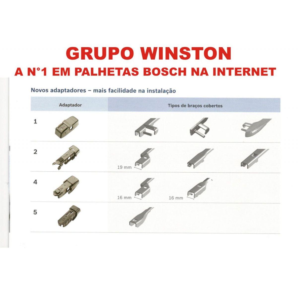 PALHETA LIMPADOR DE PARABRISA AEROTWIN PLUS ORIGINAL BOSCH MERCEDES BENZ B170 / B200