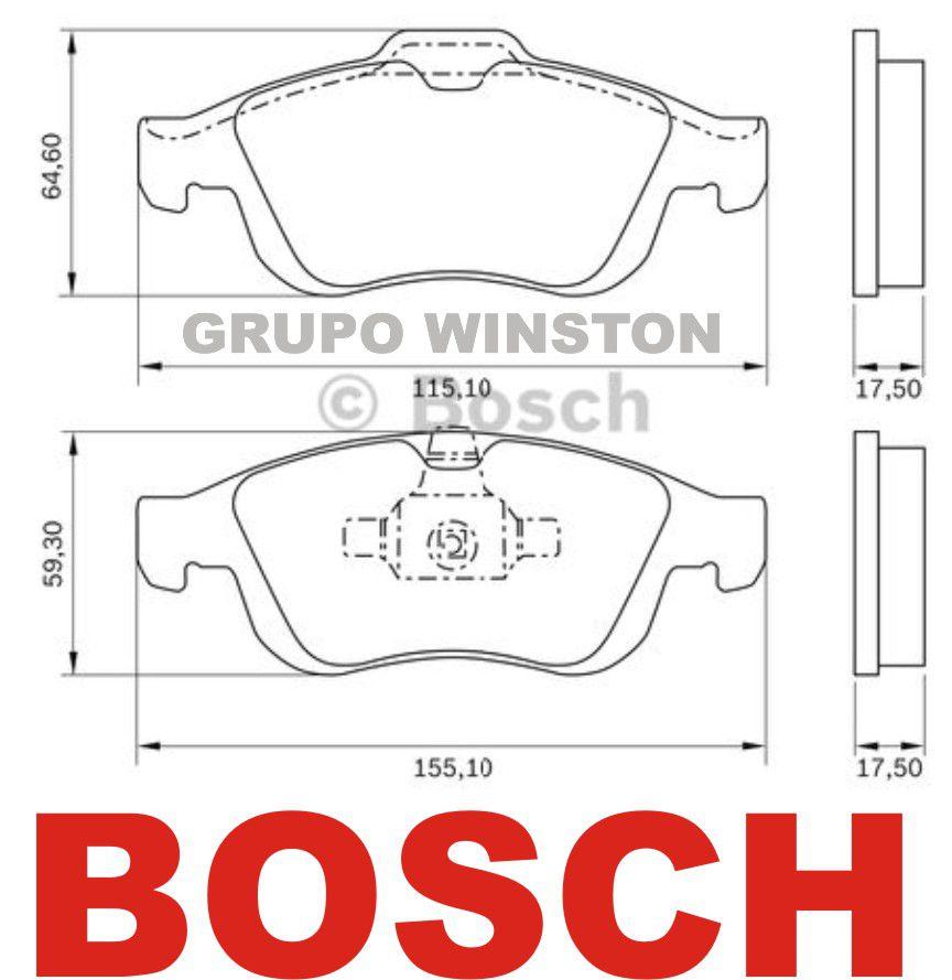 Jogo Pastilhas Freio Dianteira Bosch Duster Oroch Fluence 2.0
