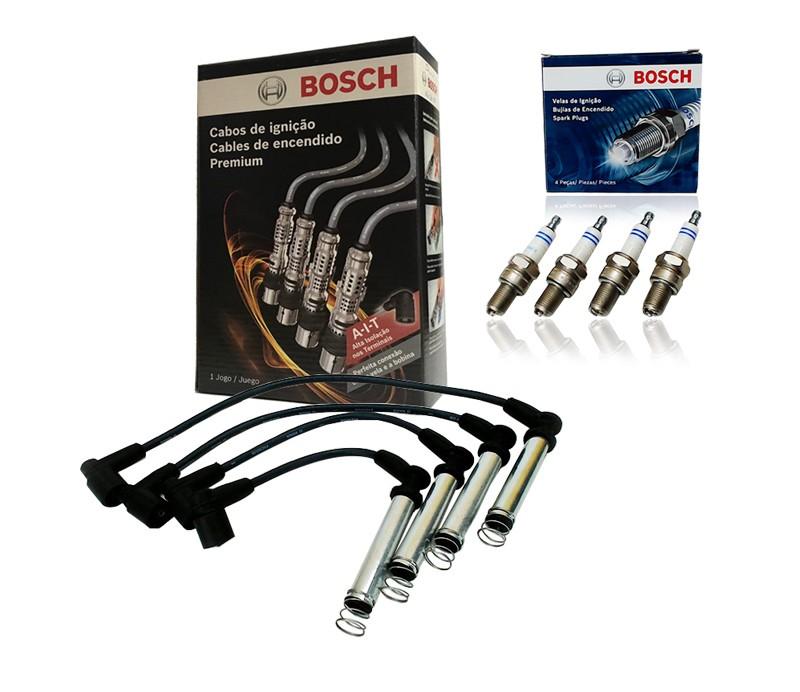 Kit Cabos E Velas Bosch Celta Corsa Classic Prisma S10 Flex F00099C012   F000KE0P32 consulte a aplicação