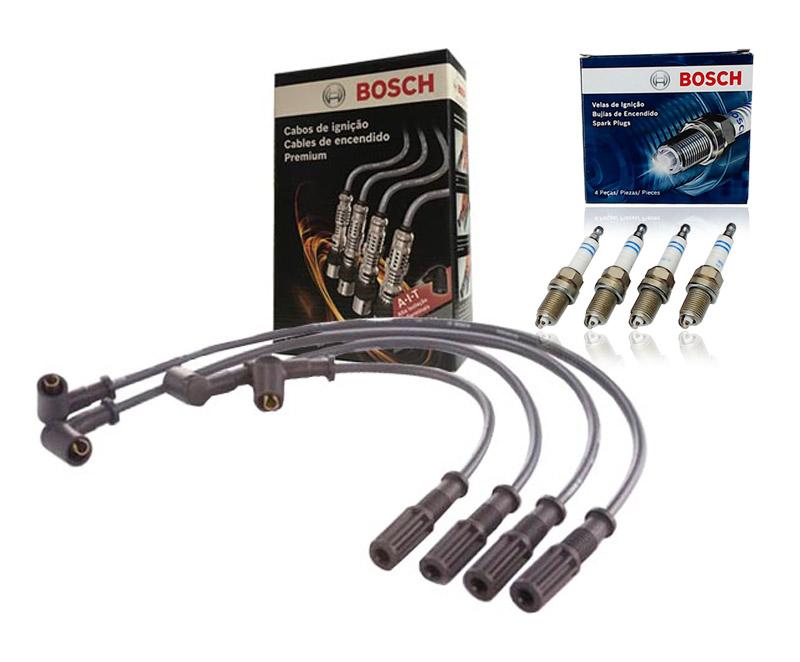Kit Cabos E Velas Bosch Fiat Uno Siena Palio 1.0 1.4 Fire Flex F00099C130 | F000KE0P07 consulte a aplicação