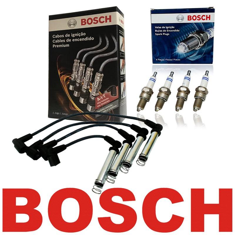 Kit Cabos E Velas Bosch Gm Agile Cobalt Meriva Prisma 1.4 Flex F00099C012 | F000KE0P34 consulte aplicação