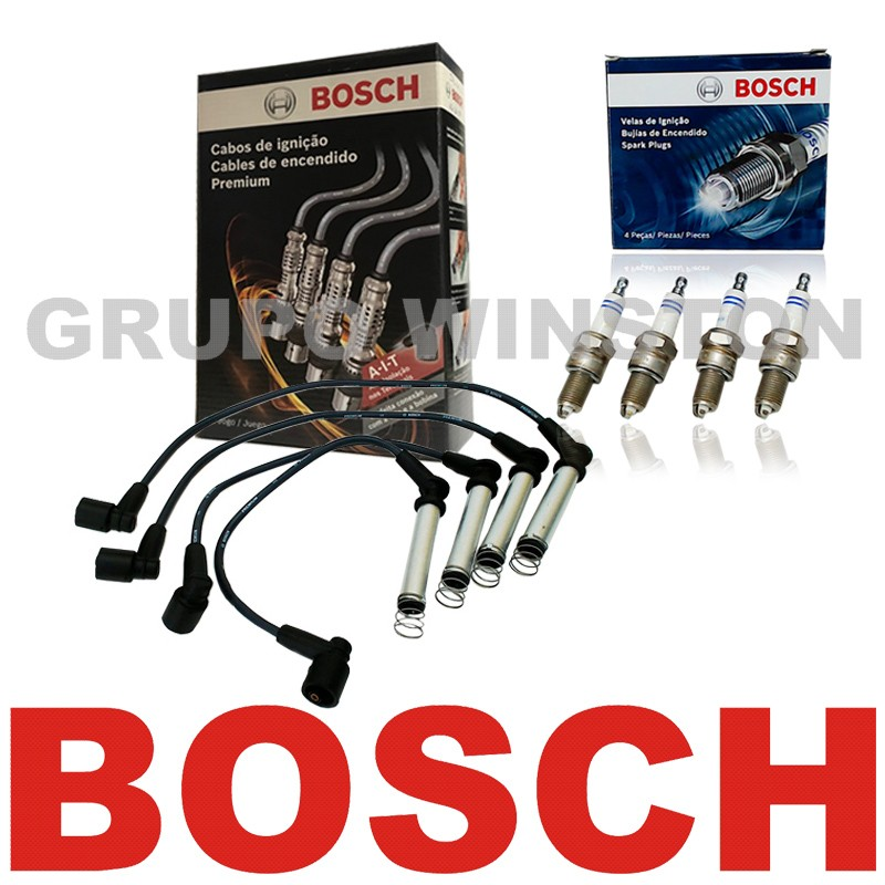 Kit Cabos E Velas Bosch Gm Astra Vectra Zafira 2.0 Flex F00099C014 | F000KE0P34 consulte aplicação