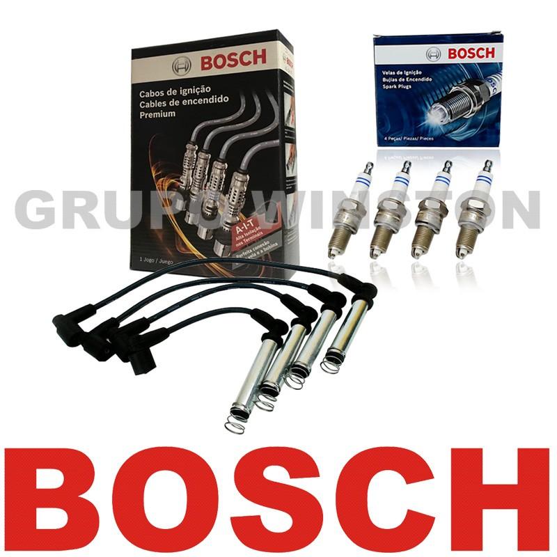 Kit Cabos E Velas Bosch Gm Celta Corsa Cobalt Meriva Spin F00099C012   F000KE0P43  consulte aplicação