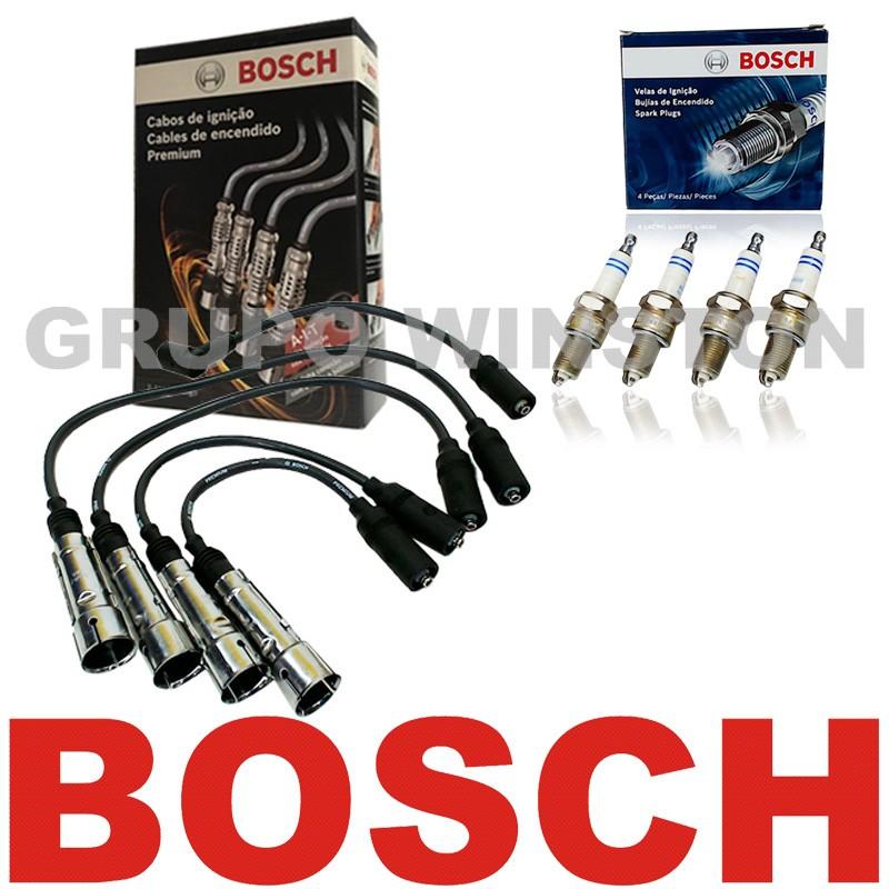 Kit Cabos E Velas Originais Bosch VW Ap 1.6 1.8 Alc Carburado 9295080041 | F000KE0P16 consulte a aplicação